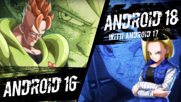 Dragon Ball FighterZ screenshot of Android 16 and 18