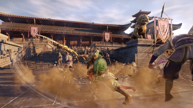 Dynasty Warriors 9 screenshot of a spearman in action