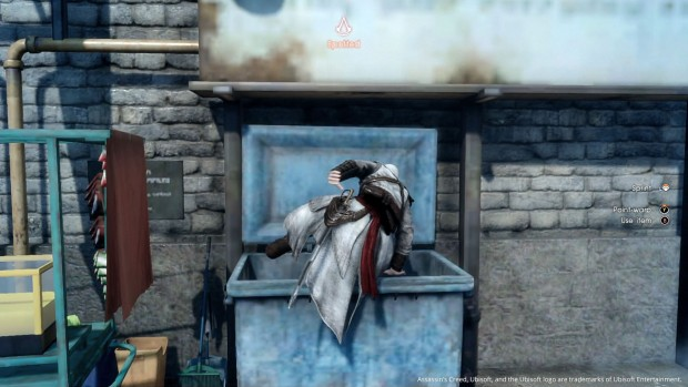 Assassins Creed inspired event for Final Fantasy XV featuring dumpster diving