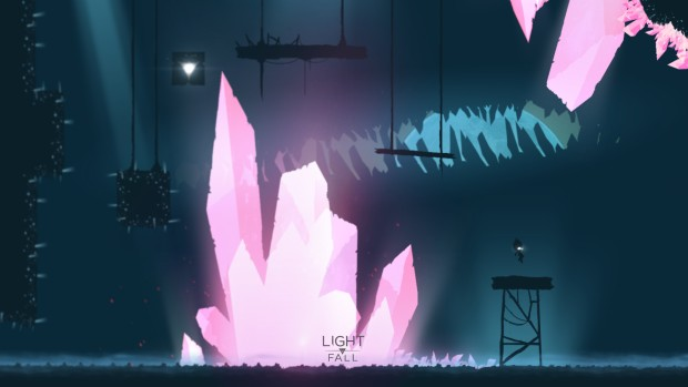Light Fall screenshot of giant crystals