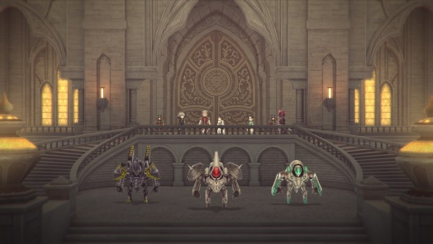 Lost Sphear screenshot of some metallic golems