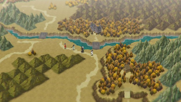 Lost Sphear screenshot of the overworld map