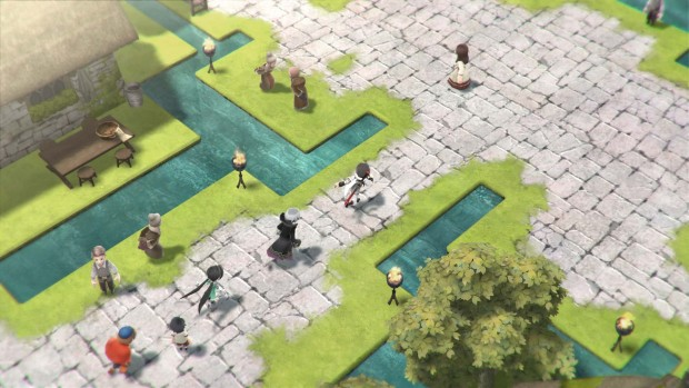 Lost Sphear screenshot of a friendly city