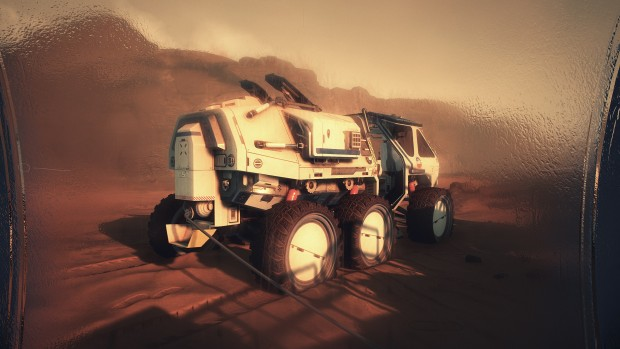 Moons of Madness screenshot of a rover on Mars