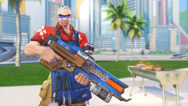 Grillmaster 76 cosmetic from Overwatch Summer Games 2017