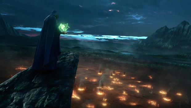 SpellForce 3 screenshot of the mage from the cinematic trailer