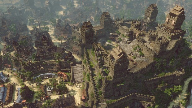 SpellForce 3 screenshot of a giant city