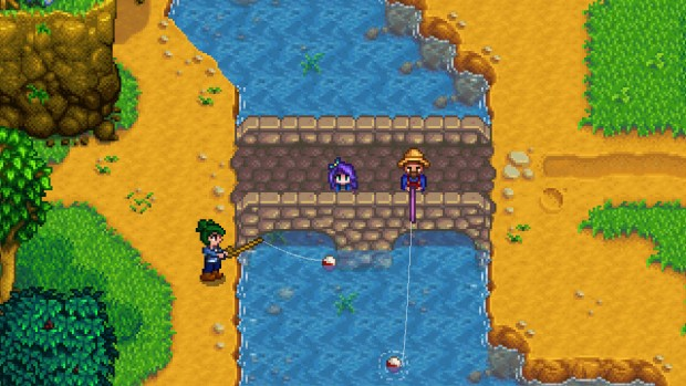 Stardew Valley fishing in multiplayer screenshot
