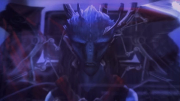Stellaris Synthetic Dawn screenshot of the alien from the trailer