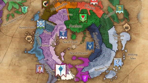 Total War: Warhammer 2 campaign map of High Elf lands
