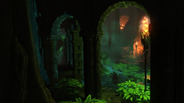 Screenshot of lush greenery from Underworld Ascendant