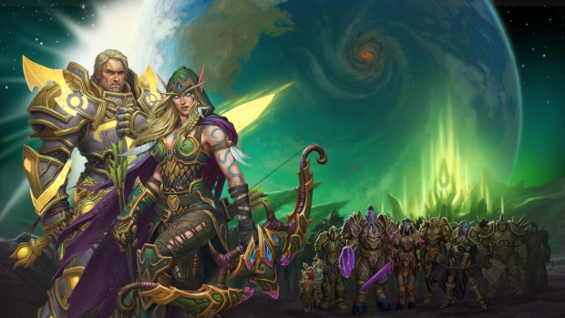 World of Warcraft Patch 7.3 artwork of the Army of Light