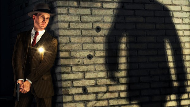 L.A. Noire screenshot of a shadowy figure