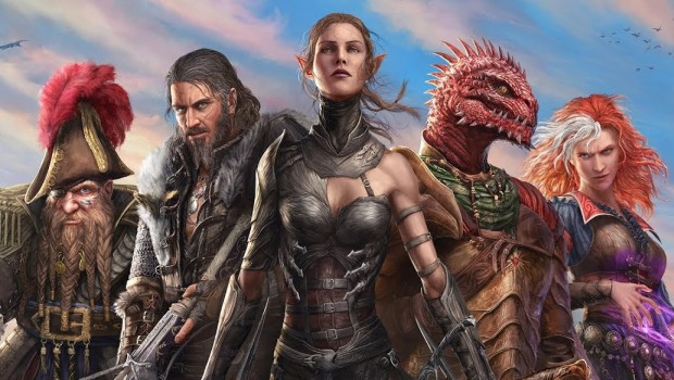 Divinity: Original Sin 2 official artwork of the various characters