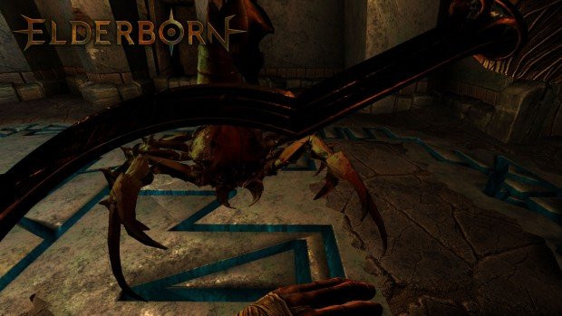 Elderborn screenshot of a giant scorpion