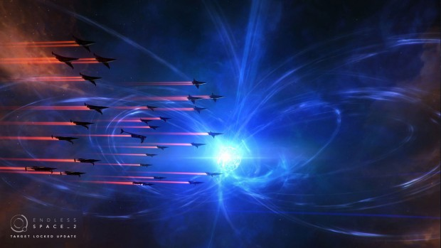 Endless Space 2 screenshot of the Vodyani squadron swarm