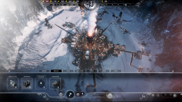 Frostpunk screenshot of the building menu