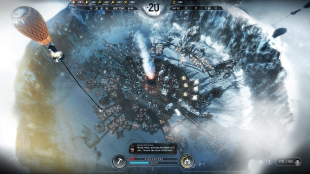 Frostpunk screenshot of a very large base