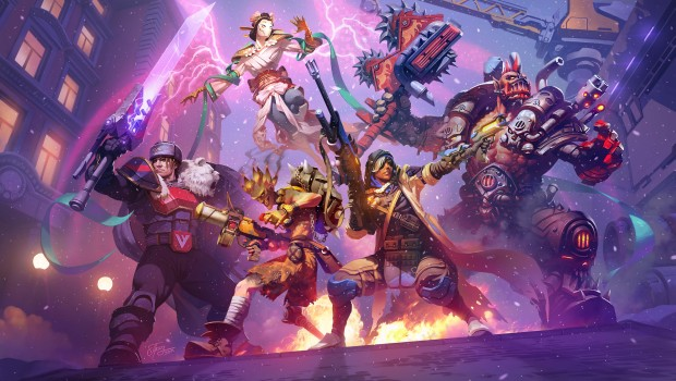 Heroes of the Storm artwork featuring Volskaya Foundry, Ana, and Junkrat