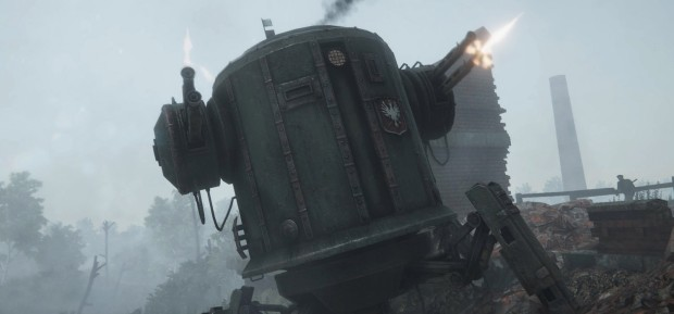 Iron Harvest RTS screenshot of one of the mechs