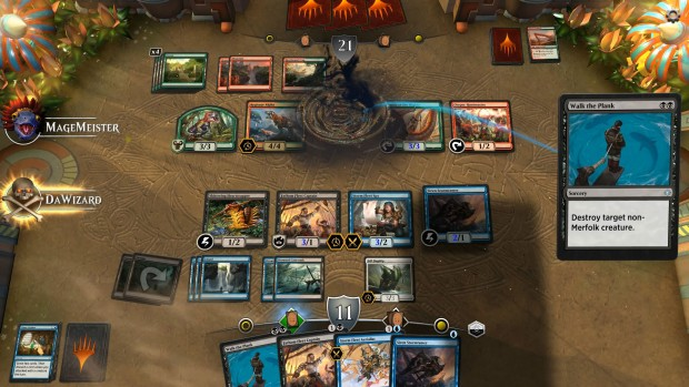 Magic: The Gathering Arena screenshot of the Walk the Plank spell