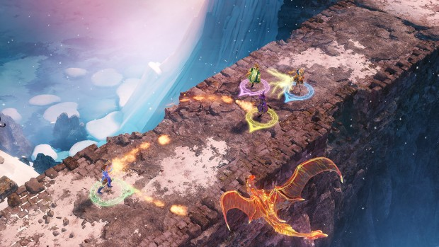 Nine Parchments fighting a battle on a rather narrow bridge
