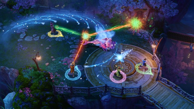 Nine Parchments screenshot of combined beams