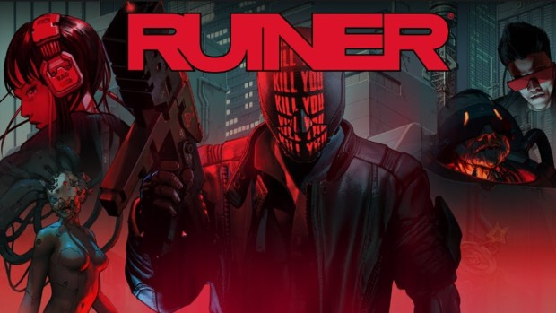 Official artwork and logo for the Ruiner game