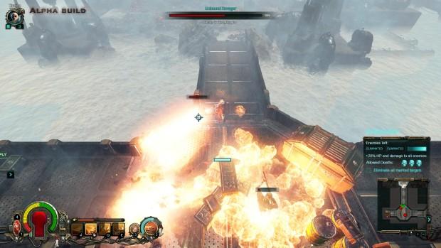 Warhammer 40k: Inquisitor - Martyr screenshot of the heavy flamer in action