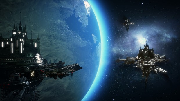Warhammer 40k: Inquisitor - Martyr screenshot of the fortresses in space