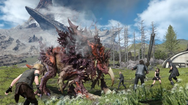 Final Fantasy XV screenshot of a giant beast