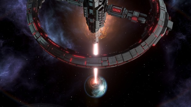 Stellaris screenshot of a planet-killing weapon from the Apocalypse expansion