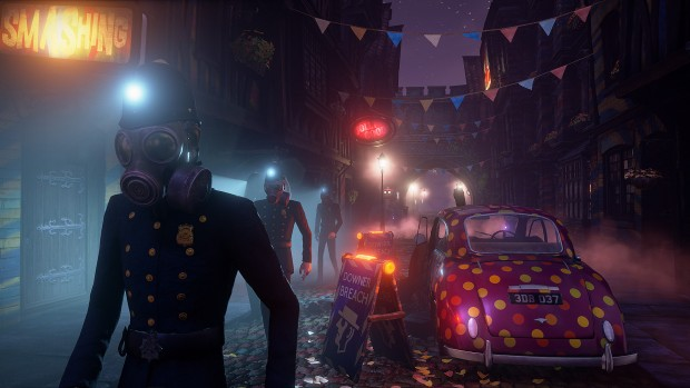 We Happy Few screenshot of shadowy police officers
