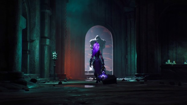 Darksiders 3 Fury using her Force Hollow hammer