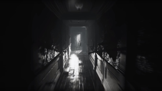 Layers of Fear 2 screenshot of a rather spooky hallway