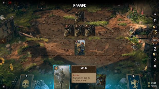 Gwent Thronebreaker screenshot of a puzzle battle