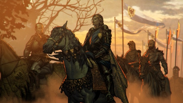 Thronebreaker artwork showing Queen Meve