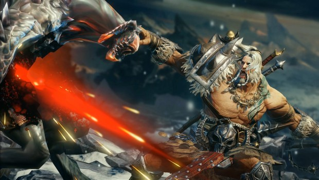 Diablo Immortal screenshot of the Barbarian hero