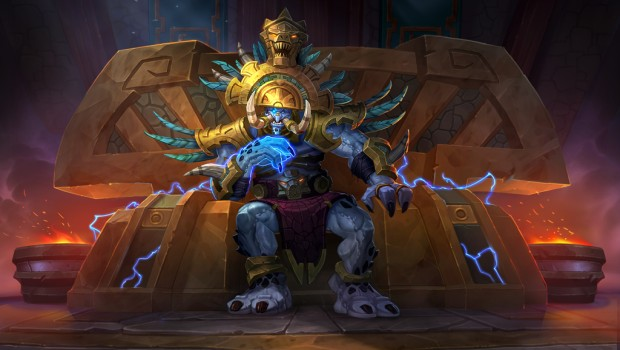 Hearthstone official artwork for the Troll King Rastakhan
