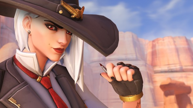 Overwatch screenshot of the new hero Ashe