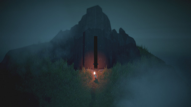 Below game screenshot of the character entering the Depths