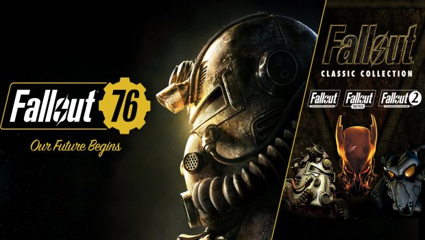 Artwork showing Fallout 76 alongside the Fallout Classic Collection