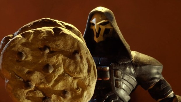 Overwatch's Reaper looking at his very own cookie