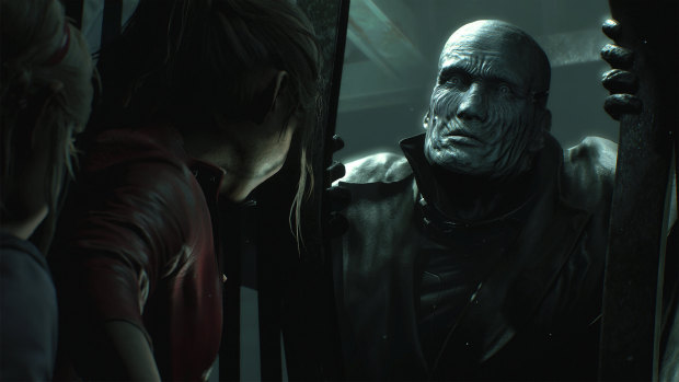 Resident Evil 2 remake screenshot of the Tyrant