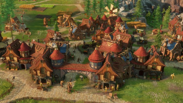 The Settlers 2019 screenshot of a rather large village
