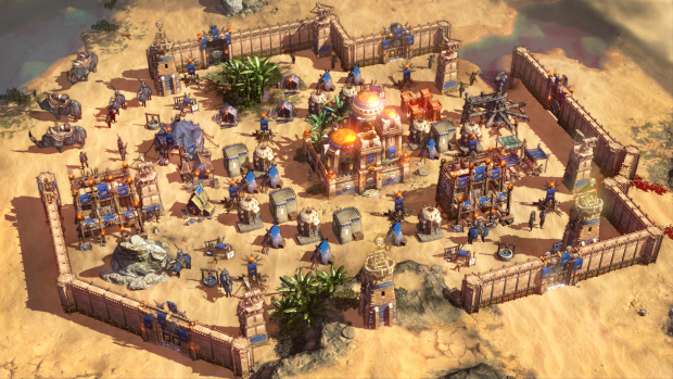 Conan Unconquered screenshot of a well fortified settlement