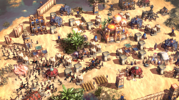 Conan Unconquered screenshot of a village under heavy siege