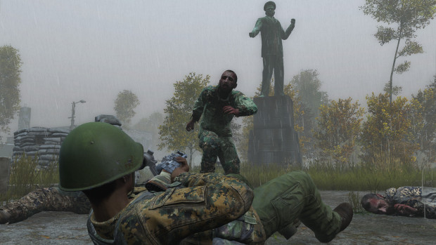 DayZ screenshot of a zombie attack