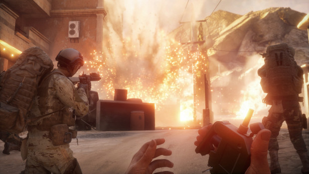Insurgency: Sandstorm screenshot of the player detonating a huge explosion