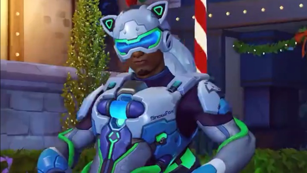 Overwatch Winter Wonderland screenshot of Arctic Fox Lucio